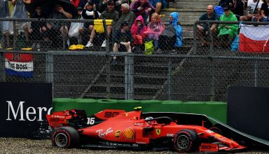 Leclerc Ferrari crash German GP F1 2019 Photo Red Bull