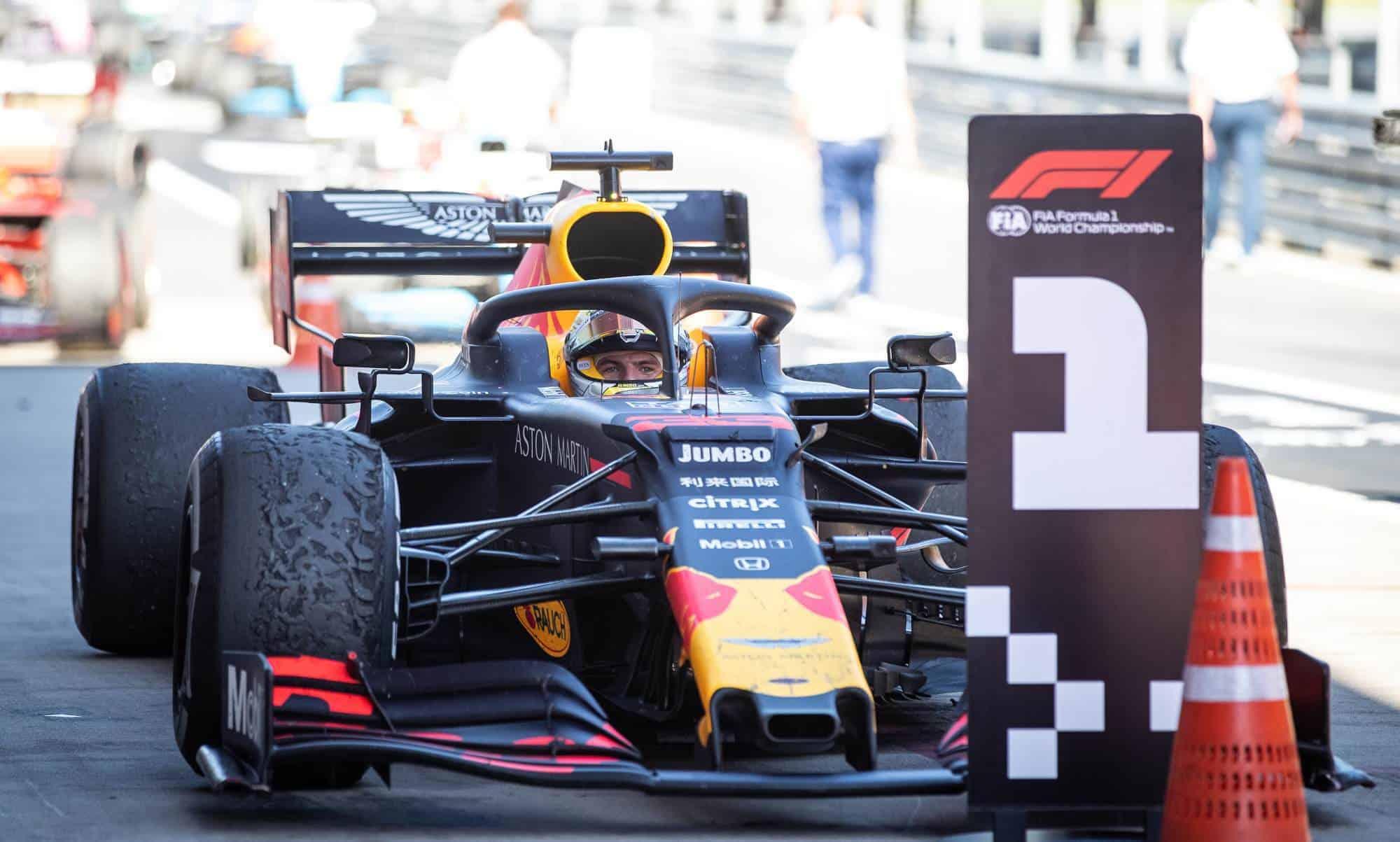 Max Verstappen Red Bull Honda Austrian GP F1 2019 parc ferme Photo Red Bull