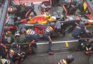 Max Verstappen Red Bull RB15 German GP F1 2019 record breaking pitstop Screenshot Youtube