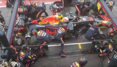 Max Verstappen Red Bull RB15 German GP F1 2019 record breaking pitstop Screenshot Youtube