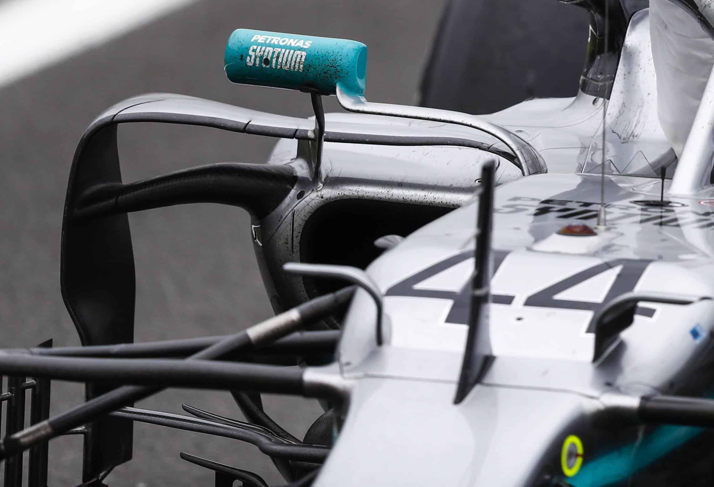 Mercedes F1 W10 British GP F1 2019 old sidepod edges Photo AMuS