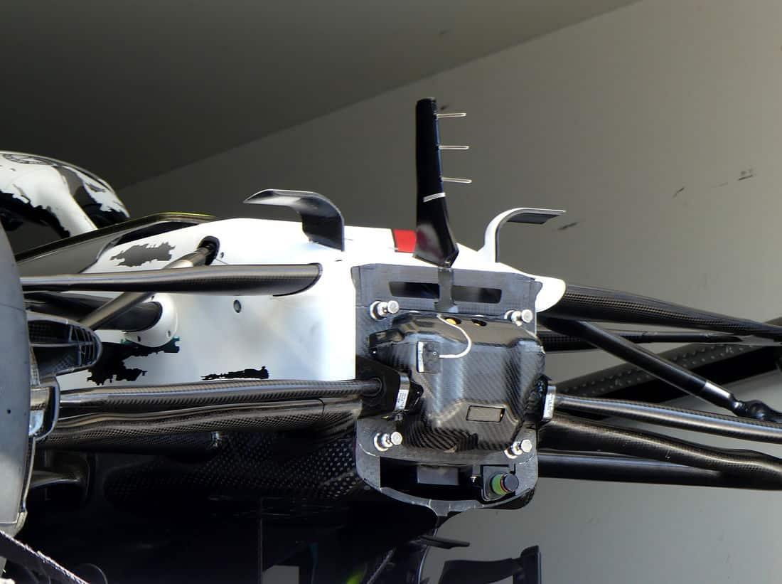 Mercedes F1 W10 German GP F1 2019 front bulkhead Photo AMuS