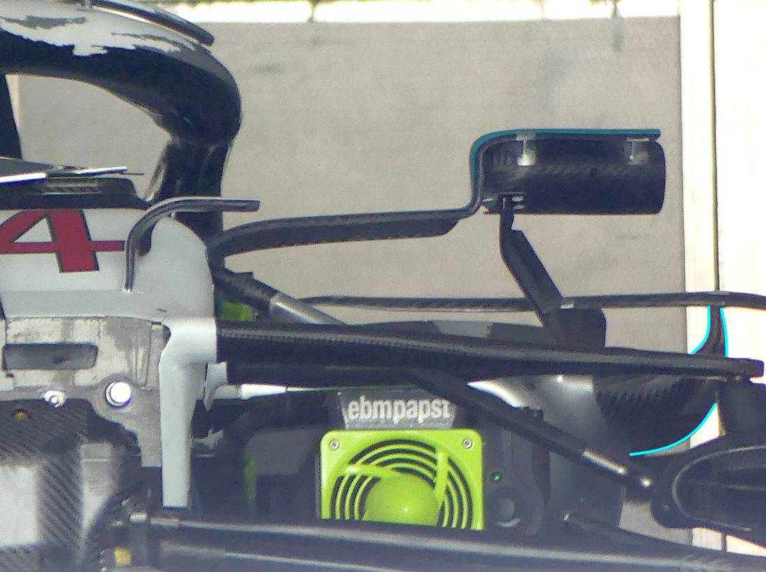 Mercedes F1 W10 German GP F1 2019 new mirrors Photo AMuS