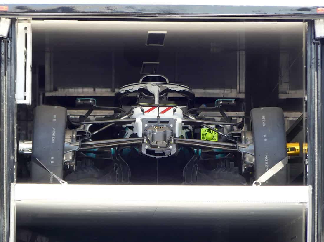Mercedes F1 W10 German GP F1 2019 new sidepod edges Photo AMuS