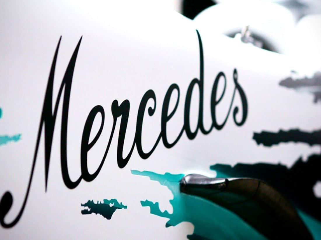 Mercedes F1 W10 German GP F1 2019 new white livery Photo AMuS