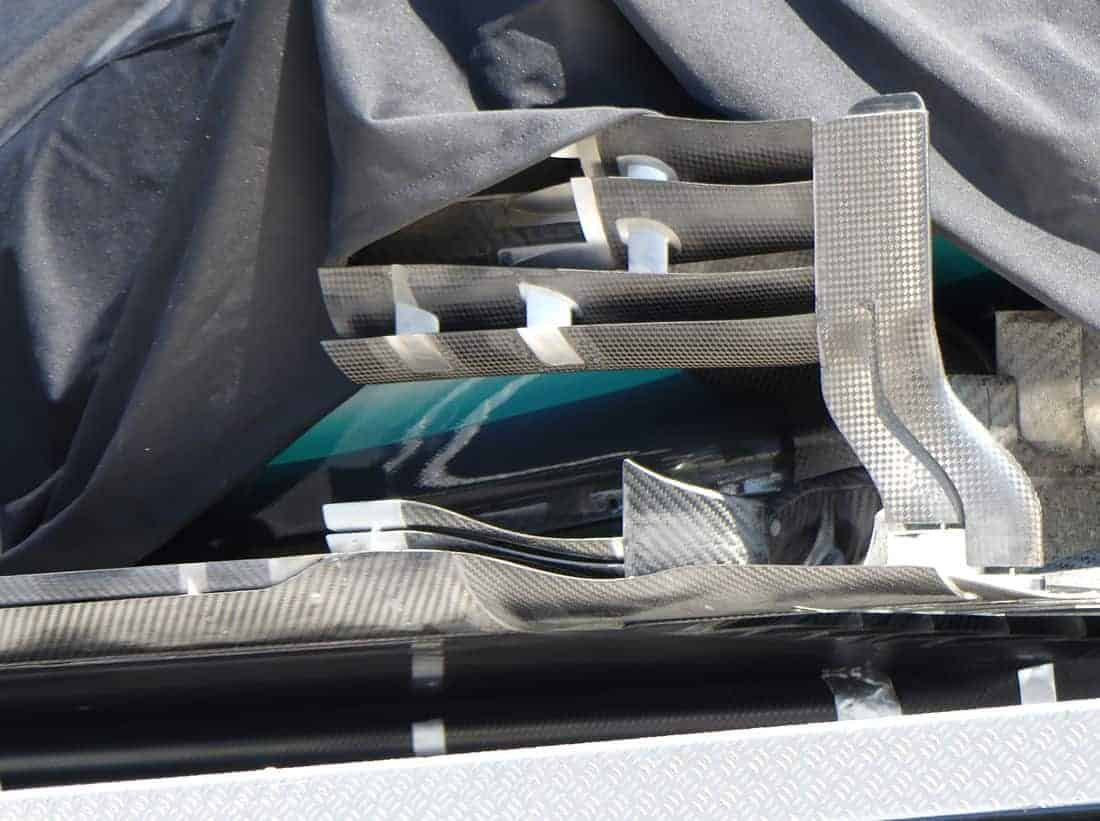 Mercedes F1 W10 German GP F1 2019 sidepod deflectors bargeboards Photo AMuS