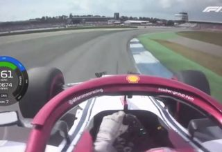 Raikkonen Alfa Romeo German GP F1 2019 Q3 onboard lap Screenshot F1