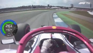 Raikkonen Alfa Romeo German GP F1 2019 Q3 onboard lap Screenshot F1