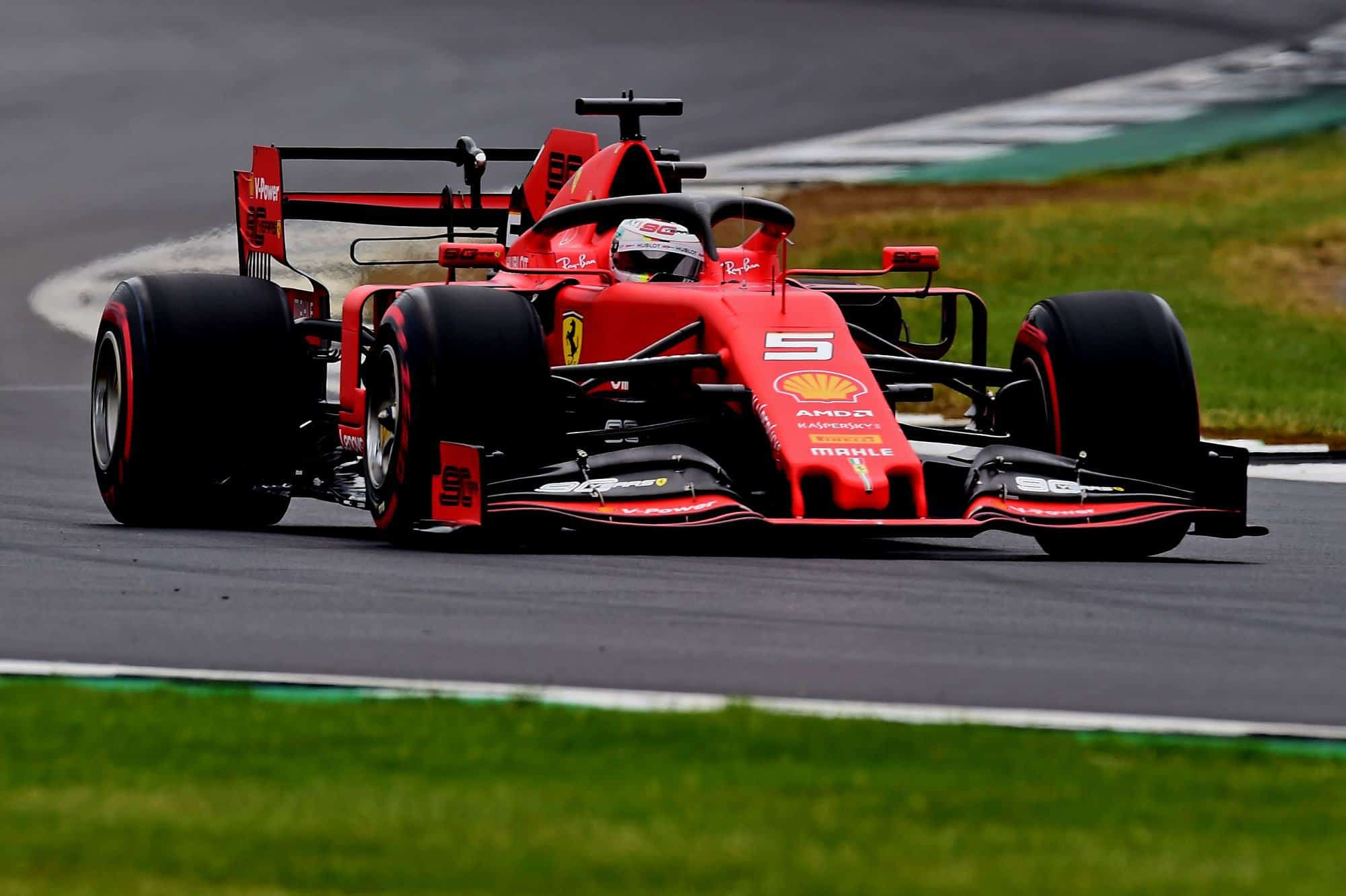 Sebastian Vettel Ferrari British GP F1 2019 DRS open Photo Ferrari