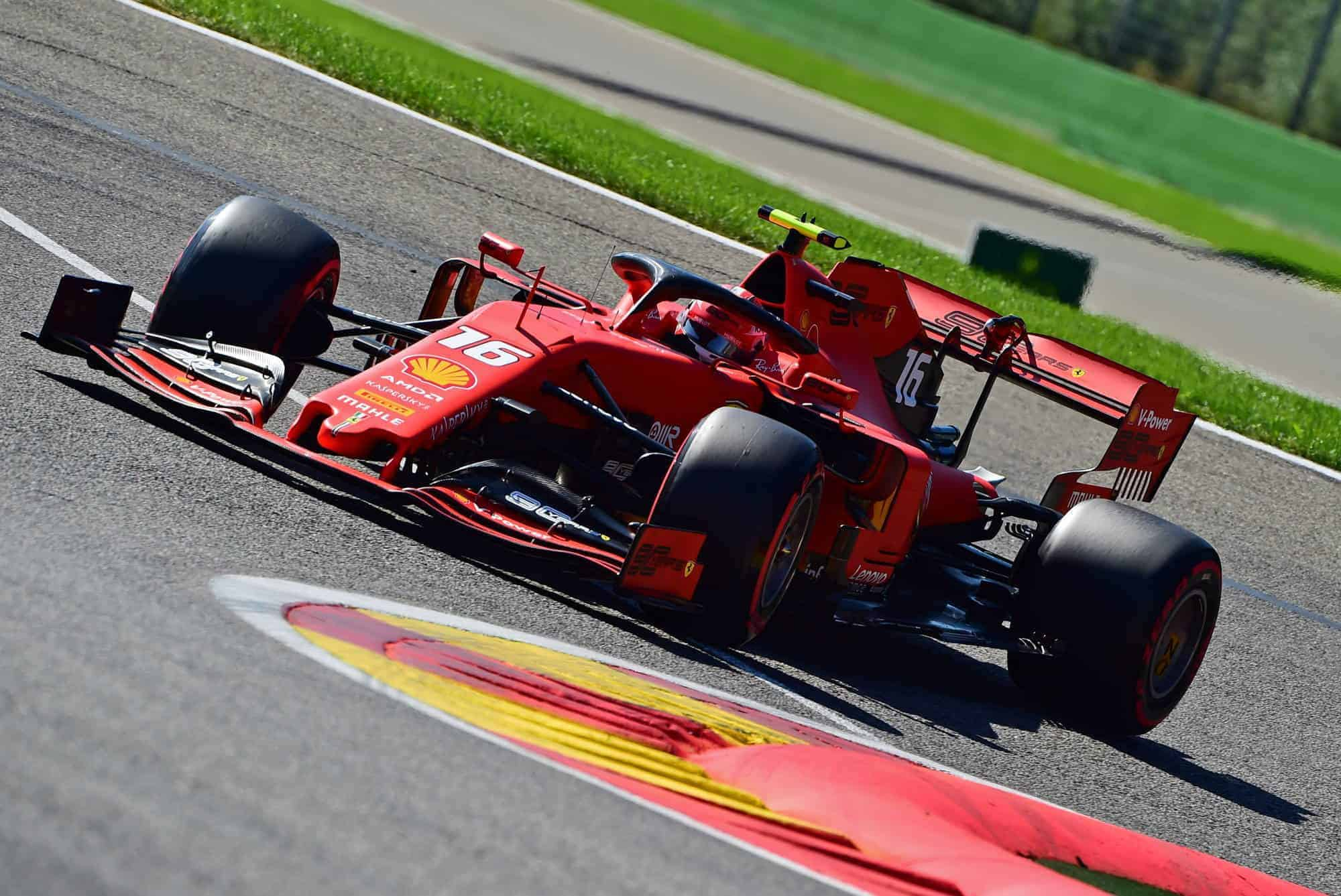 Charles Leclerc Ferrari Belgian GP F1 2019 Bus Stop Chicane Photo Ferrari