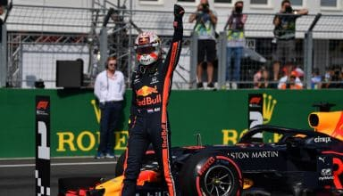 Max Verstappen Red Bull RB15 Hungarian GP F1 2019 pole position Photo Red Bull