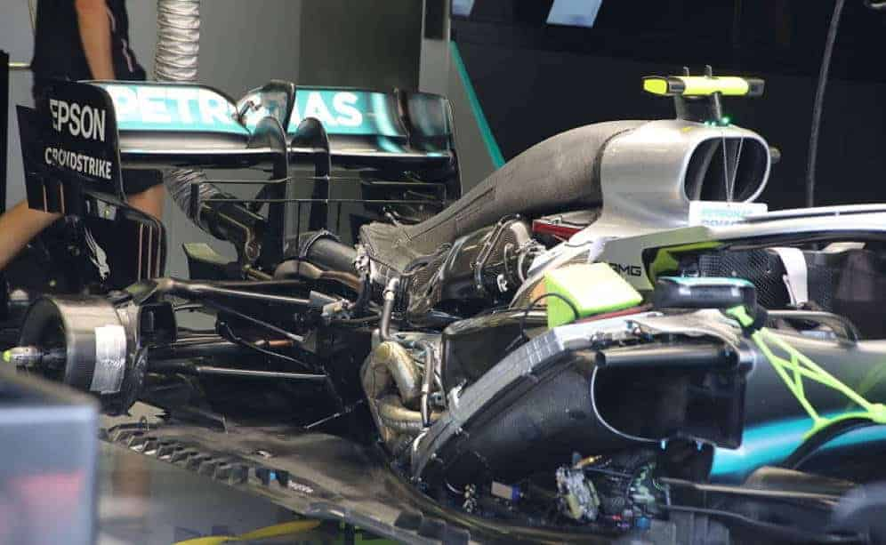Mercedes F1 W10 under engine cover Hungarian GP F1 2019 Photo Giorgio Piola