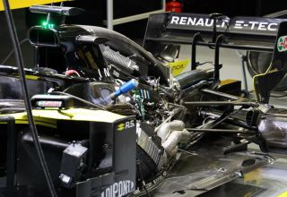 Renault RS19 F1 engine under engine cover