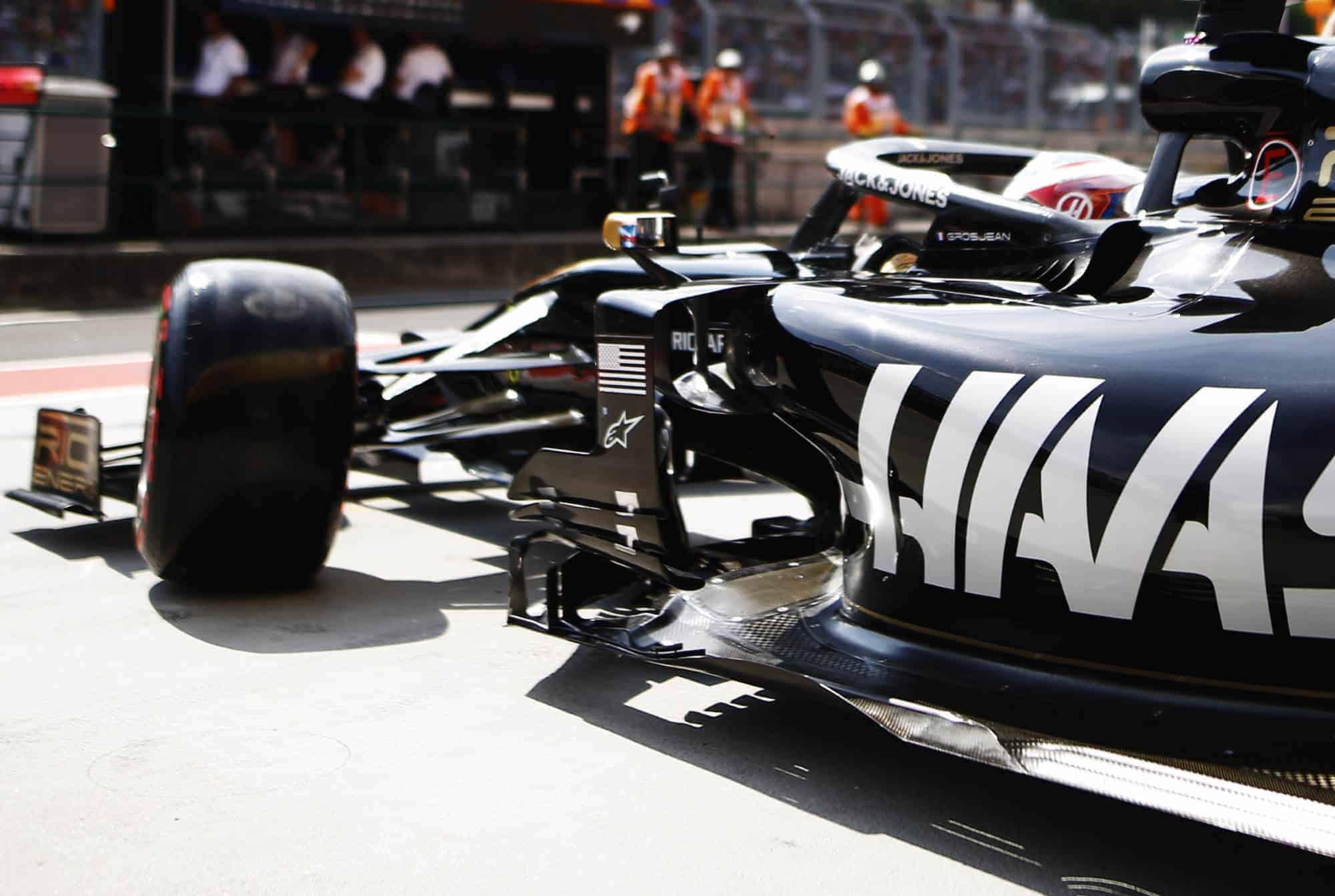 Romain Grosjean Haas VF-19 Hungarian GP F1 2019 old aero package Melbourne Photo Haas