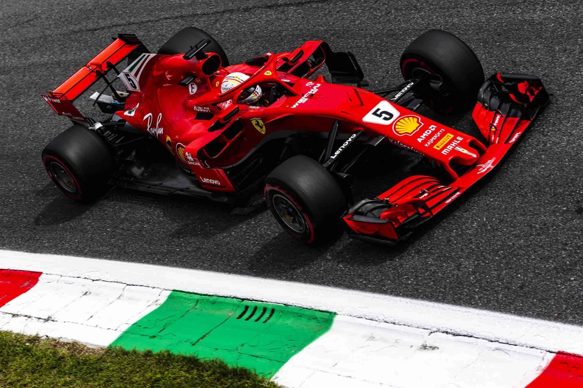 Sebastian Vettel Ferrari SF71H Italian GP F1 2018 Parabolica Photo Ferrari