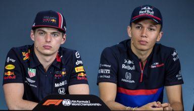 Verstappen Albon Red Bull Toro Rosso F1 2019 press conference Austrian GP Photo Red Bull