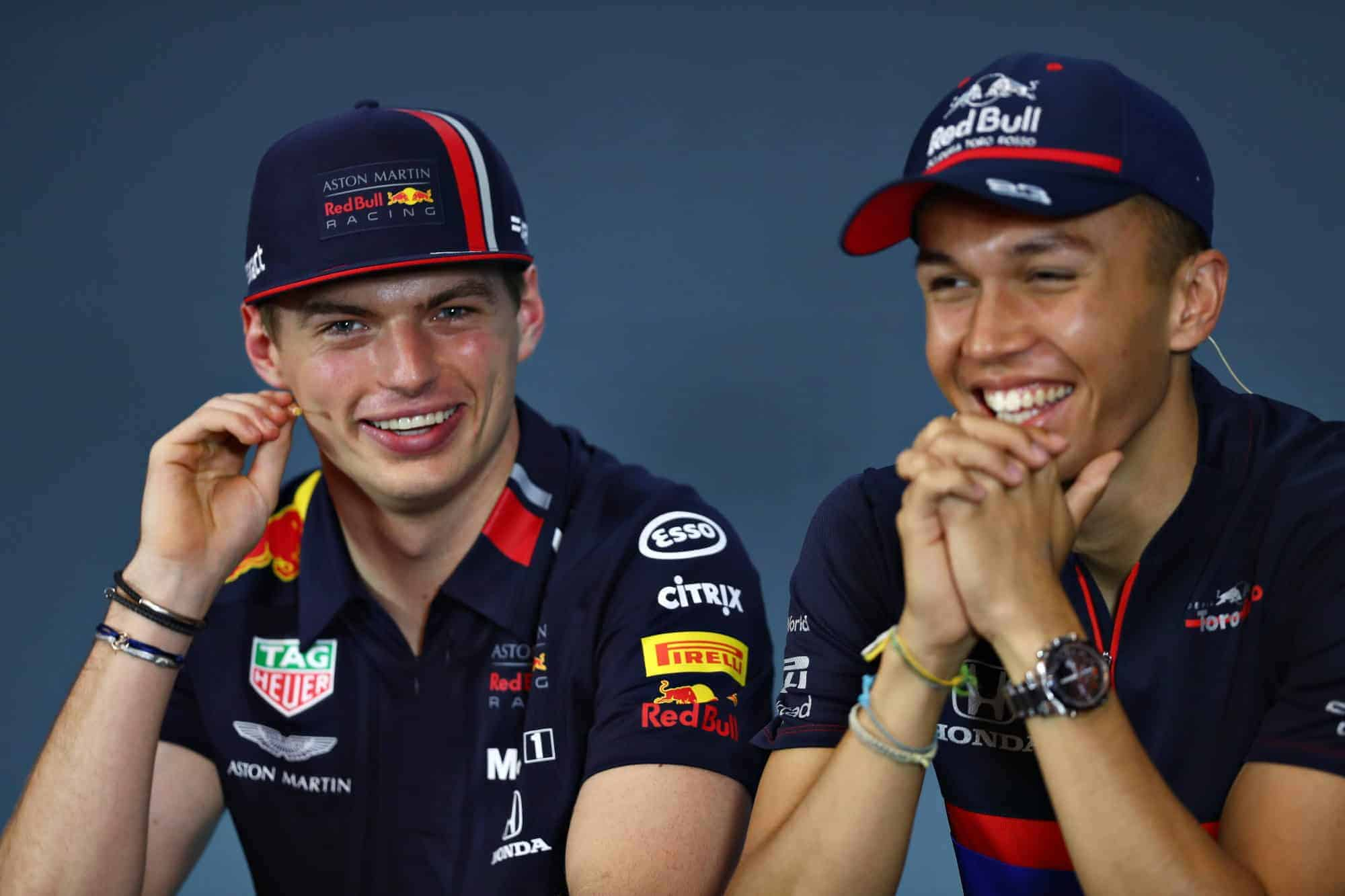 Verstappen Albon Red Bull Toro Rosso F1 2019 press conference Photo Red Bull