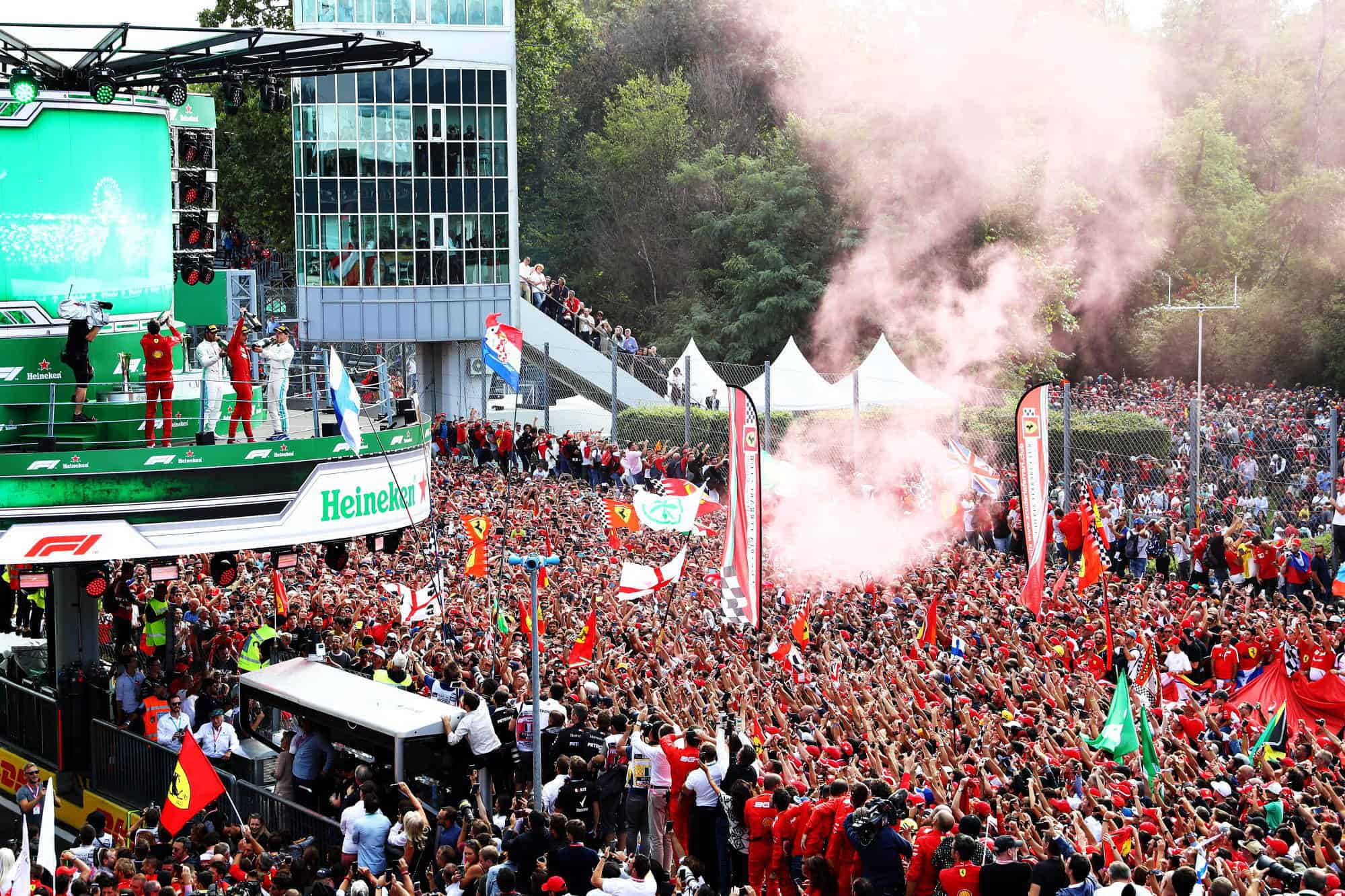 2019 Italian GP F1 2019 around the podium celebration Photo Sky Sports F1
