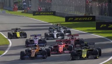 2019 Italian GP Qualifying farce bizzare ending Q3 Screenshot Youtube F1