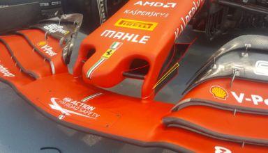 2019 Singapore GP Ferrari new nose cape vane Photo Ferrari - Twitter