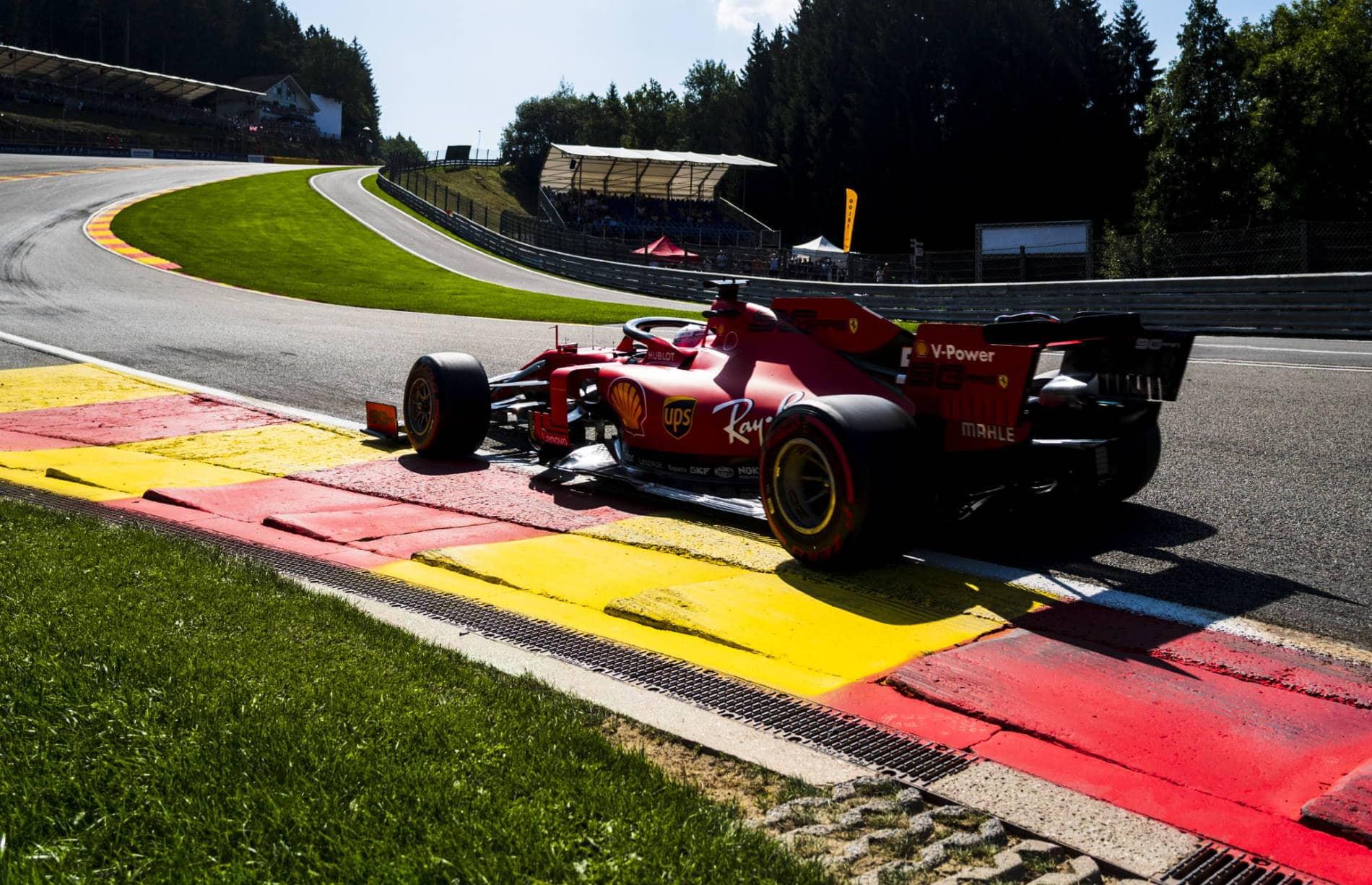 Charles Leclerc Ferrari Belgian GP F1 2019 Eau Rouge Photo Ferrari