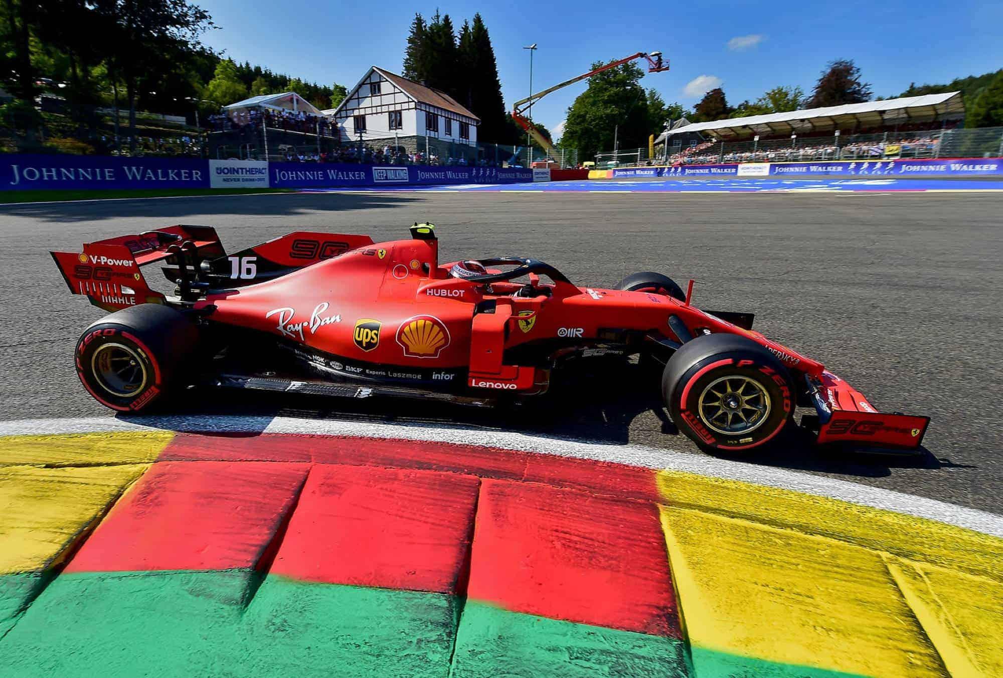 Charles Leclerc Ferrari Belgian GP F1 2019 La Source first corner Photo Ferrari