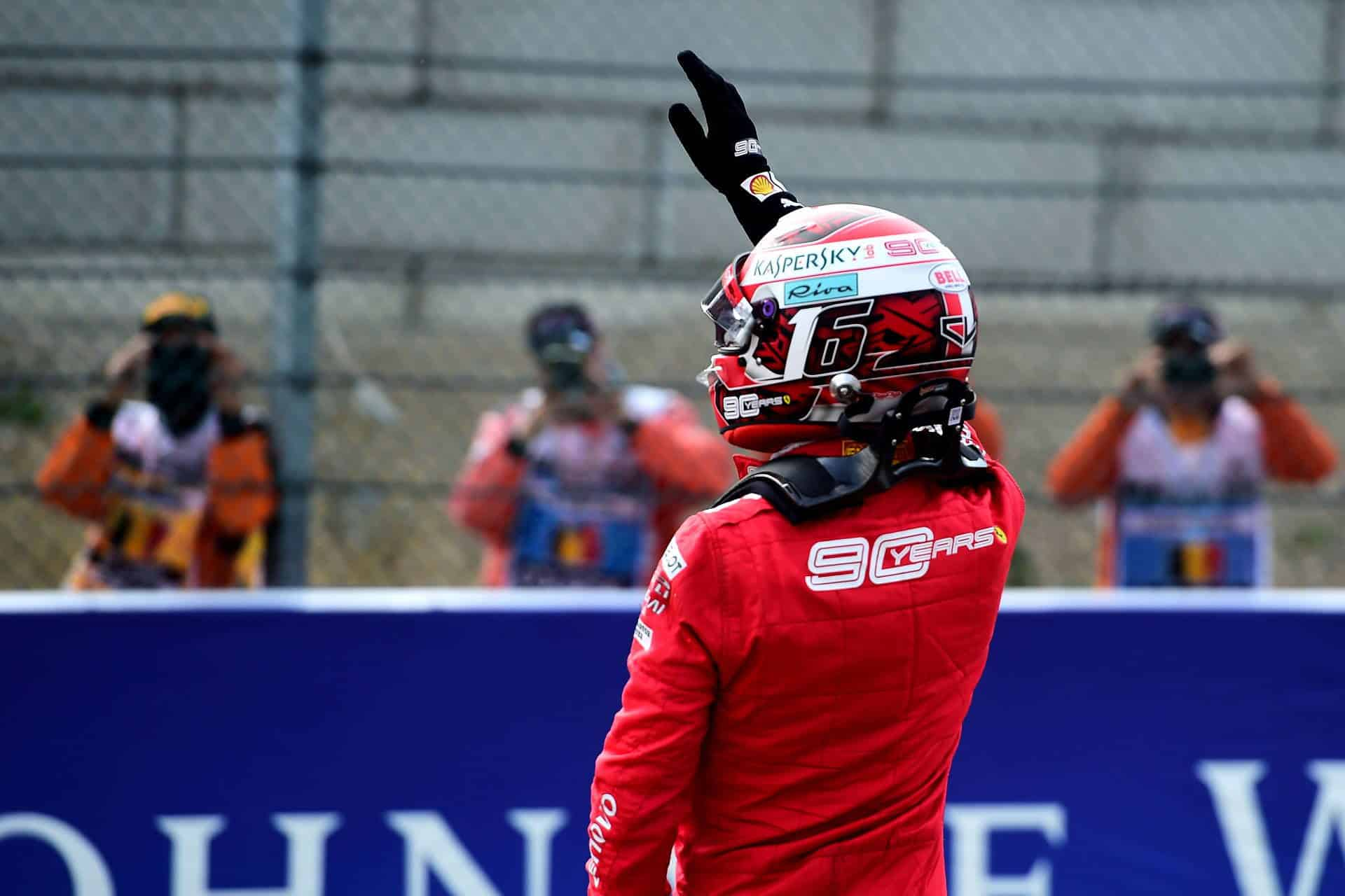Charles Leclerc Ferrari Belgian GP F1 2019 after qualifying Photo Ferrari