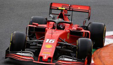 Charles Leclerc Ferrari Italian GP F1 2019 FP1 Photo Sky Sports F1