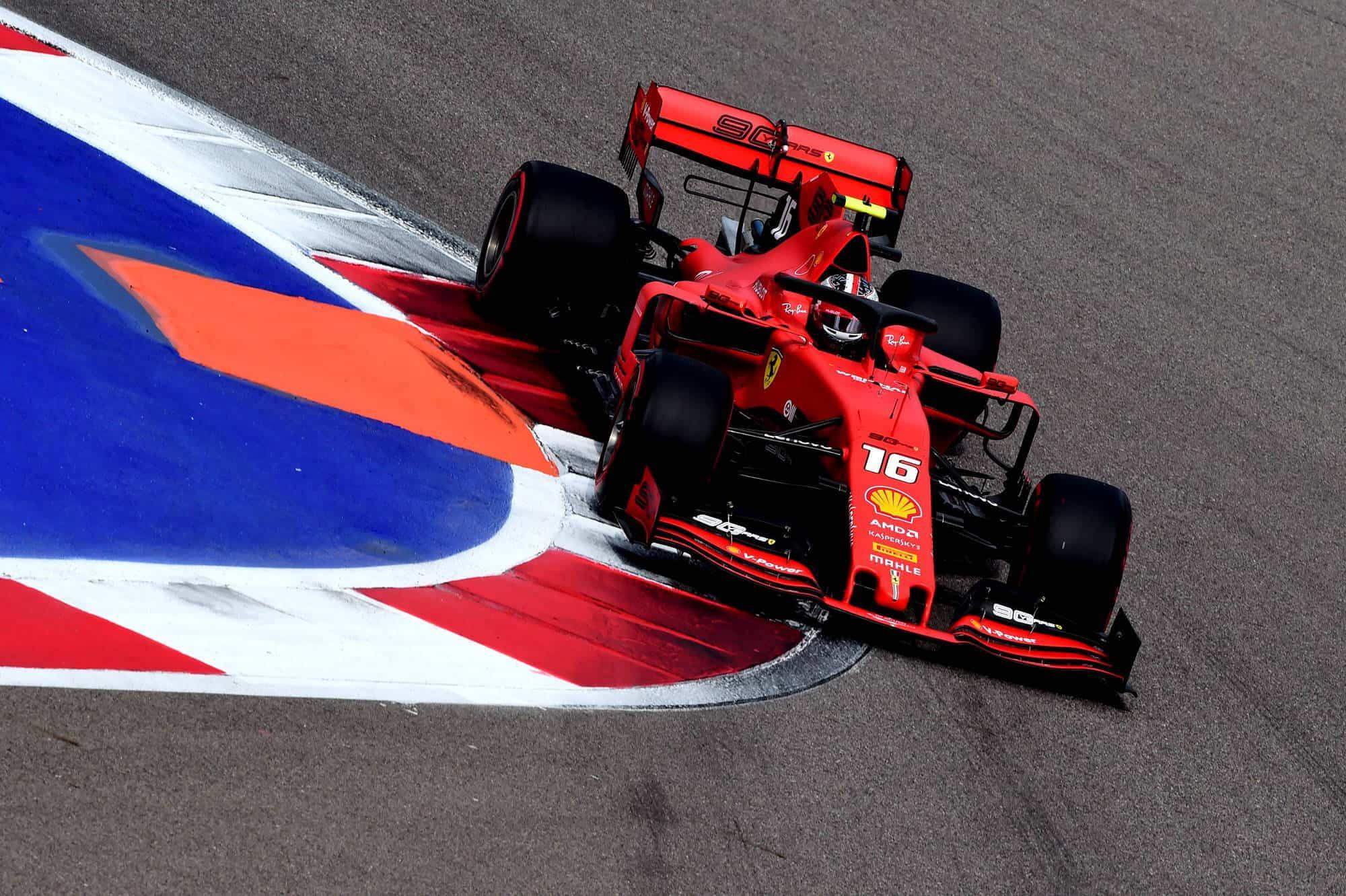 Charles Leclerc Ferrari Russian GP F1 2019 FP3 soft Photo Ferrari