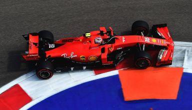 Charles Leclerc Ferrari Russian GP F1 2019 apex Photo Ferrari