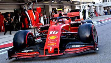 Charles Leclerc Ferrari Russian GP F1 2019 pitlane soft Pirelli Photo Ferrari