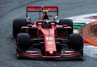 Charles Leclerc Ferrari SF90 Italian GP F1 2019 first chicane soft Pirelli tyres Photo Ferrari