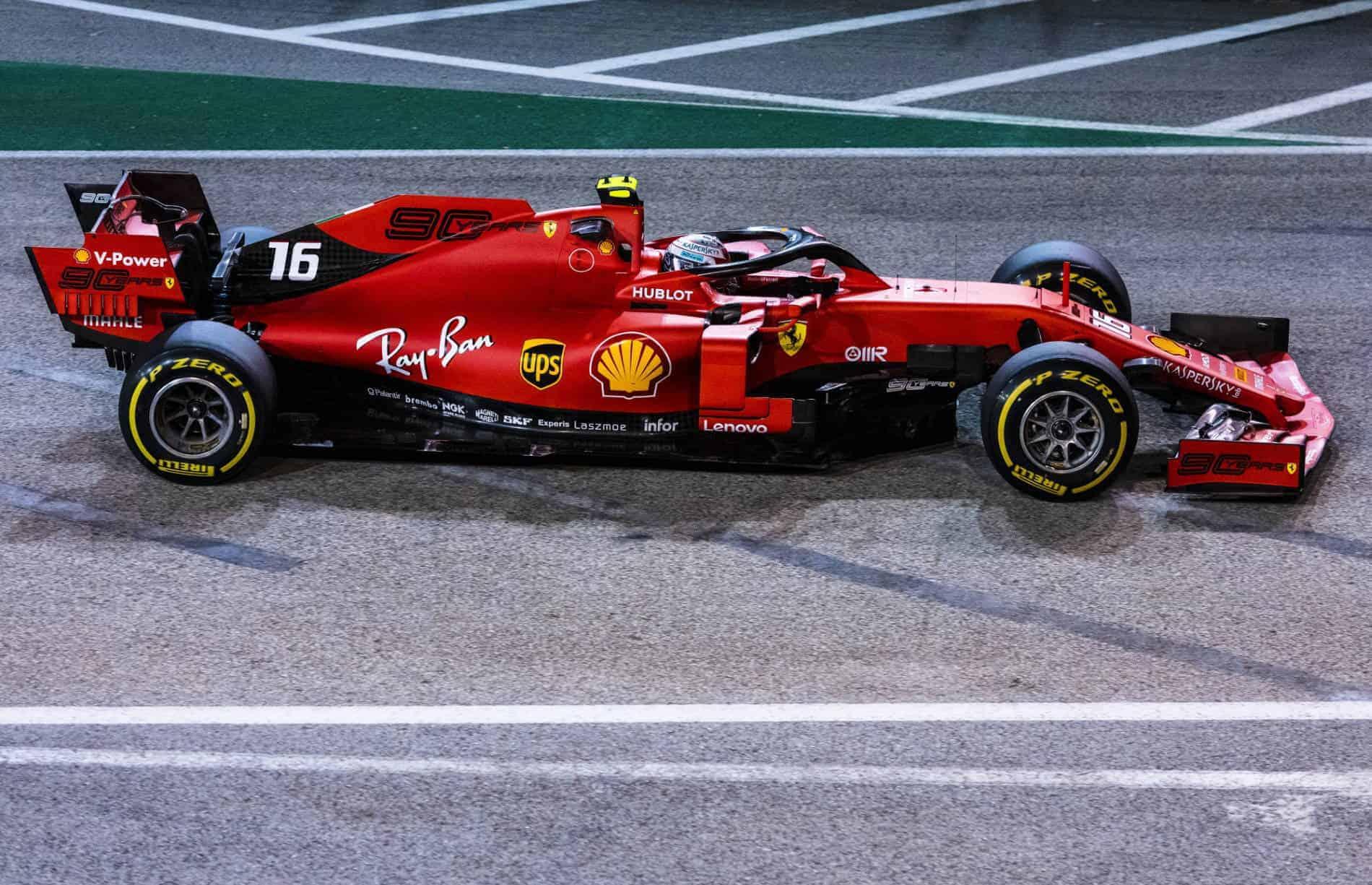 Charles Leclerc Ferrari SF90 Singapore GP F1 2019 FP2 Photo Ferrari