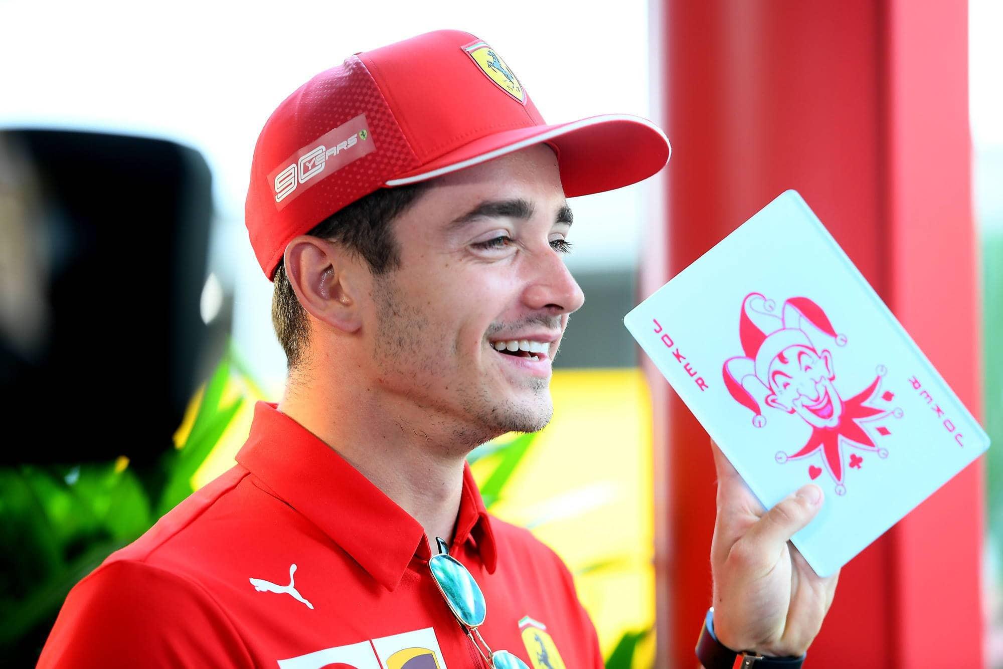 Charles Leclerc Ferrari SF90 Singapore GP F1 2019 Joker card Photo Ferrari