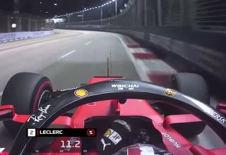 Charles Leclerc Ferrari SF90 Singapore GP F1 2019 onboard pole Screenshot Youtube F1