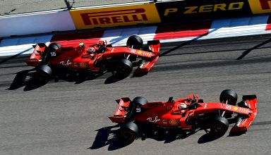 Charles Leclerc and Sebastian Vettel Ferrari Russian GP F1 2019 race Photo Ferrari