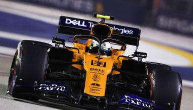 Lando Norris McLaren MCL34 Singapore GP F1 2019 Photo McLaren