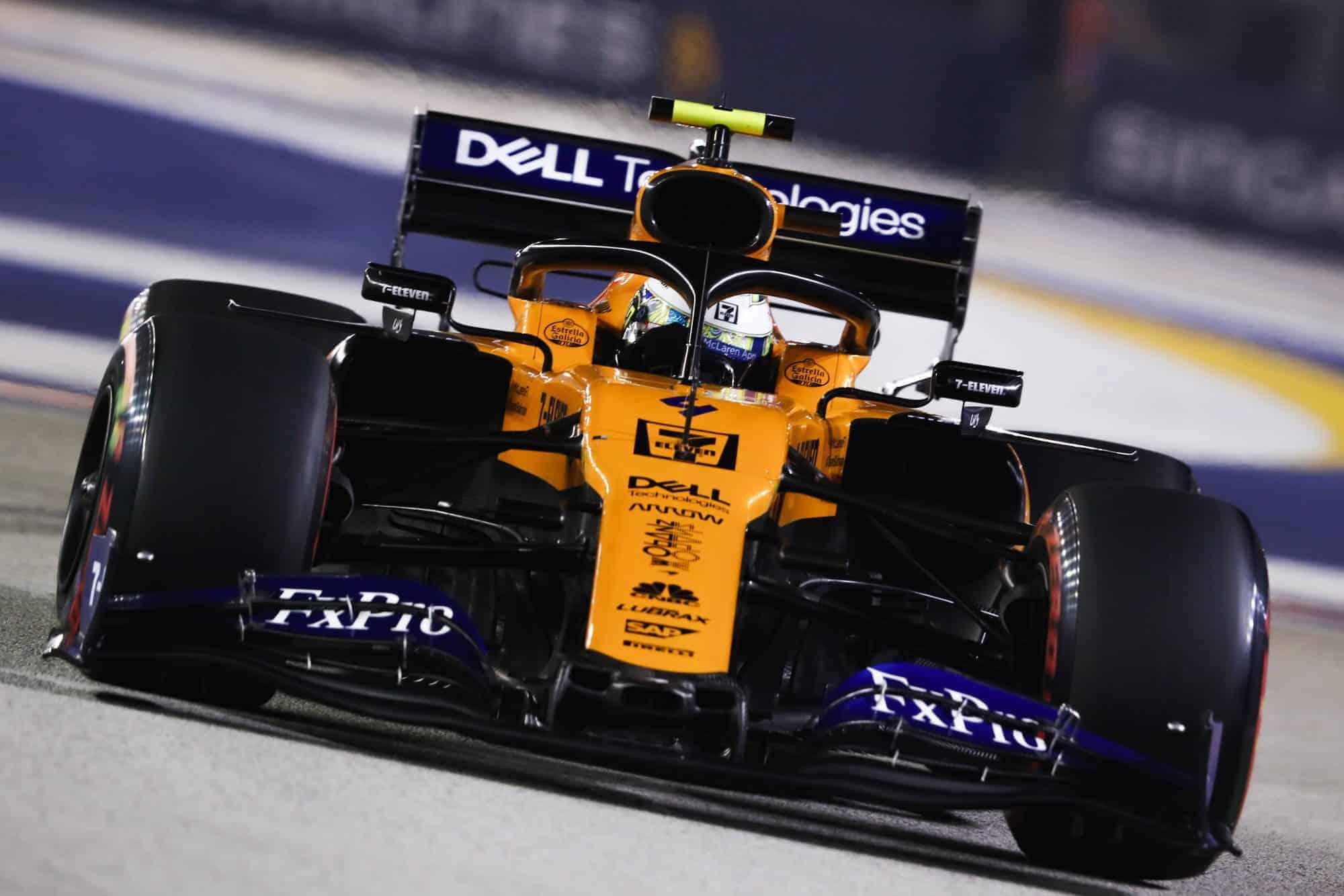 Lando Norris McLaren MCL34 Singapore GP F1 2019 Photo McLaren