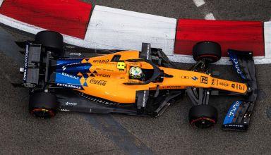 Lando Norris Singapore GP F1 2019 from above Photo McLaren