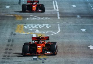 Leclerc and Vettel Singapore GP F1 2019 Photo Ferrari