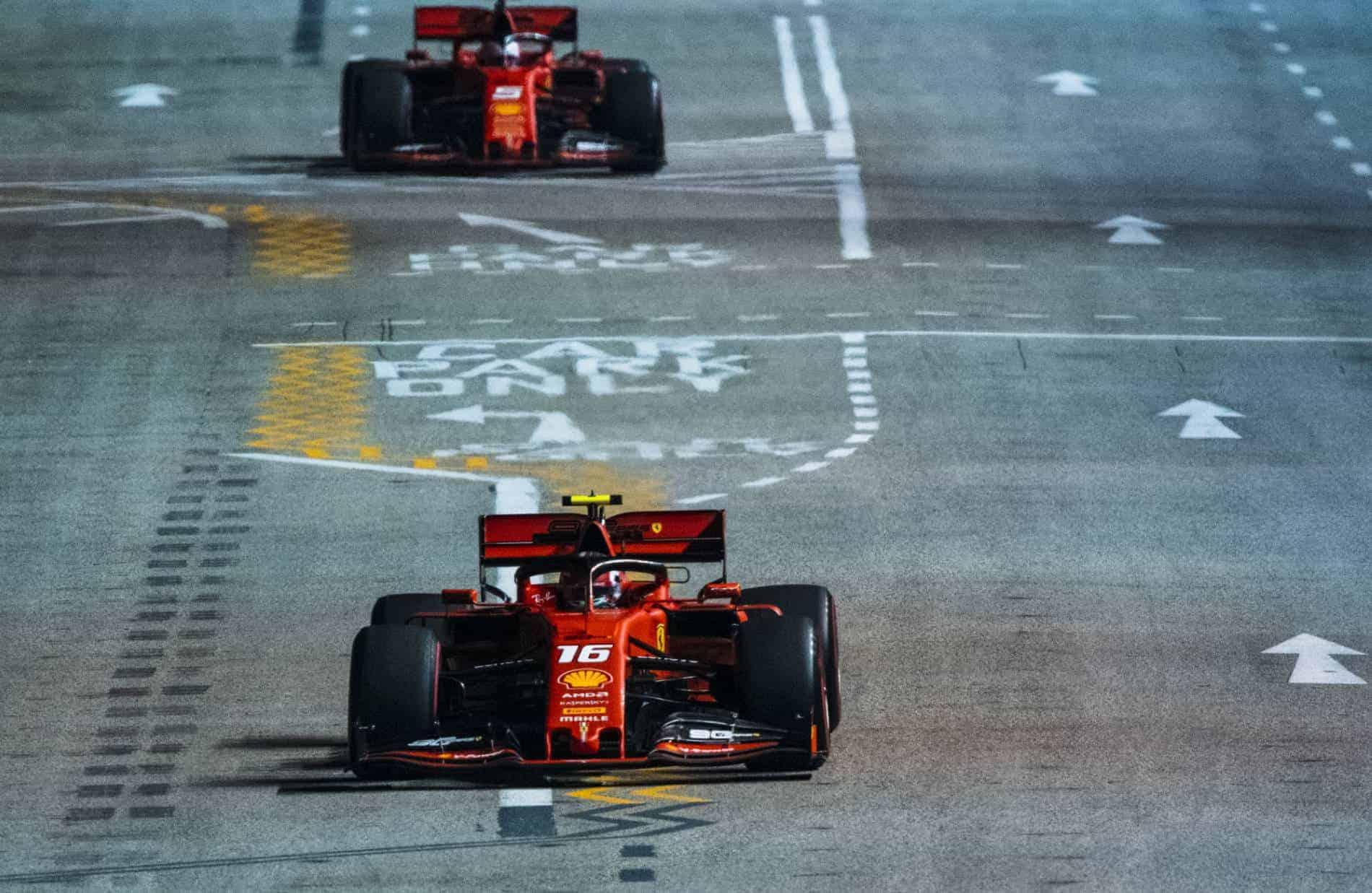 Leclerc and Vettel Singapore GP F1 2019 Photo Ferrari
