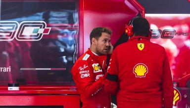 Sebastian Vettel Ferrari SF90 Belgian GP F1 2019 pits Photo Ferrari