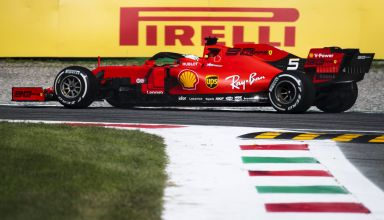 Sebastian Vettel Ferrari SF90 Italian GP F1 2019 side shot Photo Ferrari