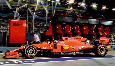 Sebastian Vettel Ferrari SF90 Singapore GP F1 2019 pitlane Photo Ferrari