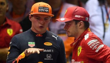 Verstappen and Leclerc after the race 2019 Singapore GP F1 2019 Photo Red Bull