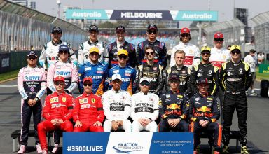 2019 F1 drivers Melbourne Australian GP First race of the season group photo Photo Racing Point
