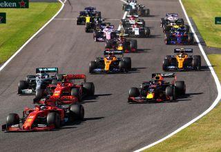 2019 Japanese GP start first corner Photo Red Bull
