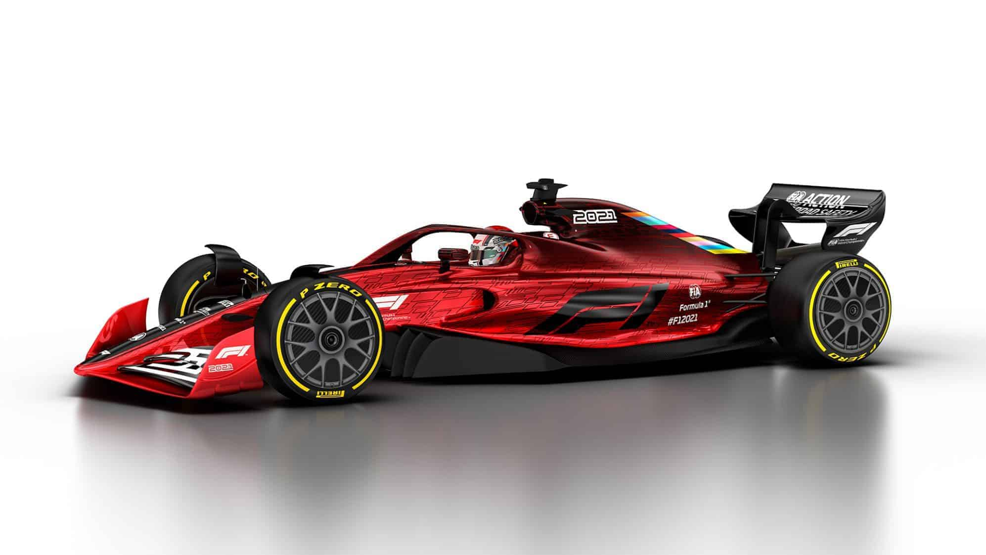 2021 F1 Car released on Oct 31 2019 left side view Photo Formula 1