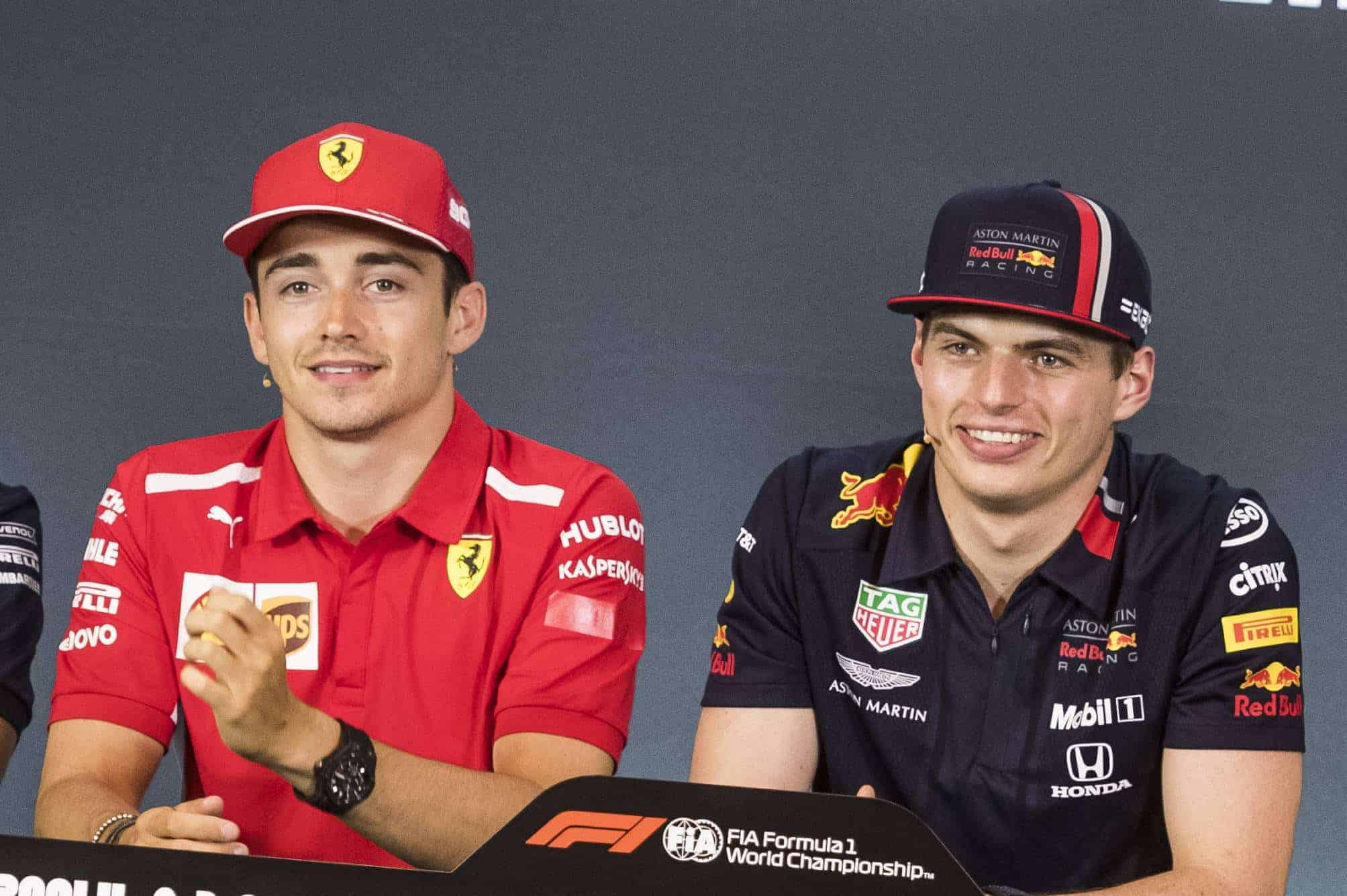 Leclerc Verstappen Austrian GP F1 2019 press conference Photo Red Bull