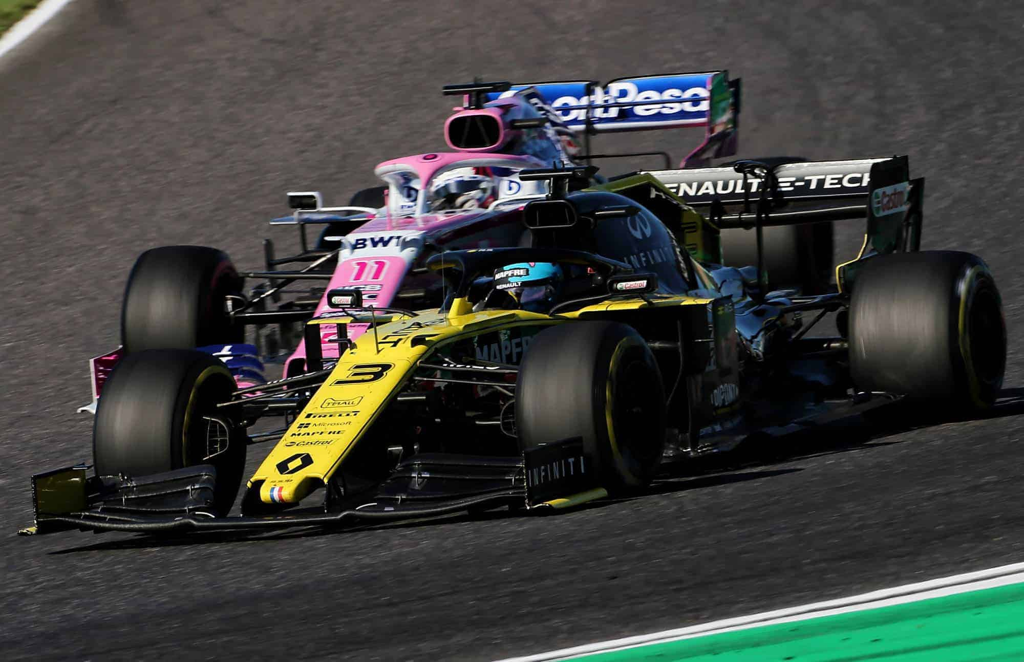 Ricciardo leads Perez Japanese GP F1 2019 Photo Renault